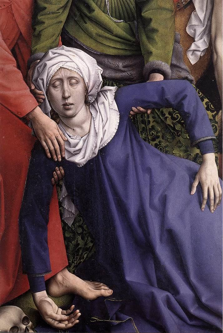 Рогир ван дер Вейден. Снятие с креста. Фрагмент