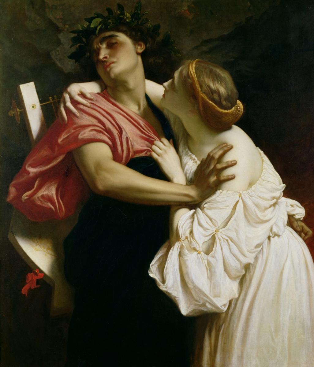 Frederic Leighton. Orpheus and Eurydice