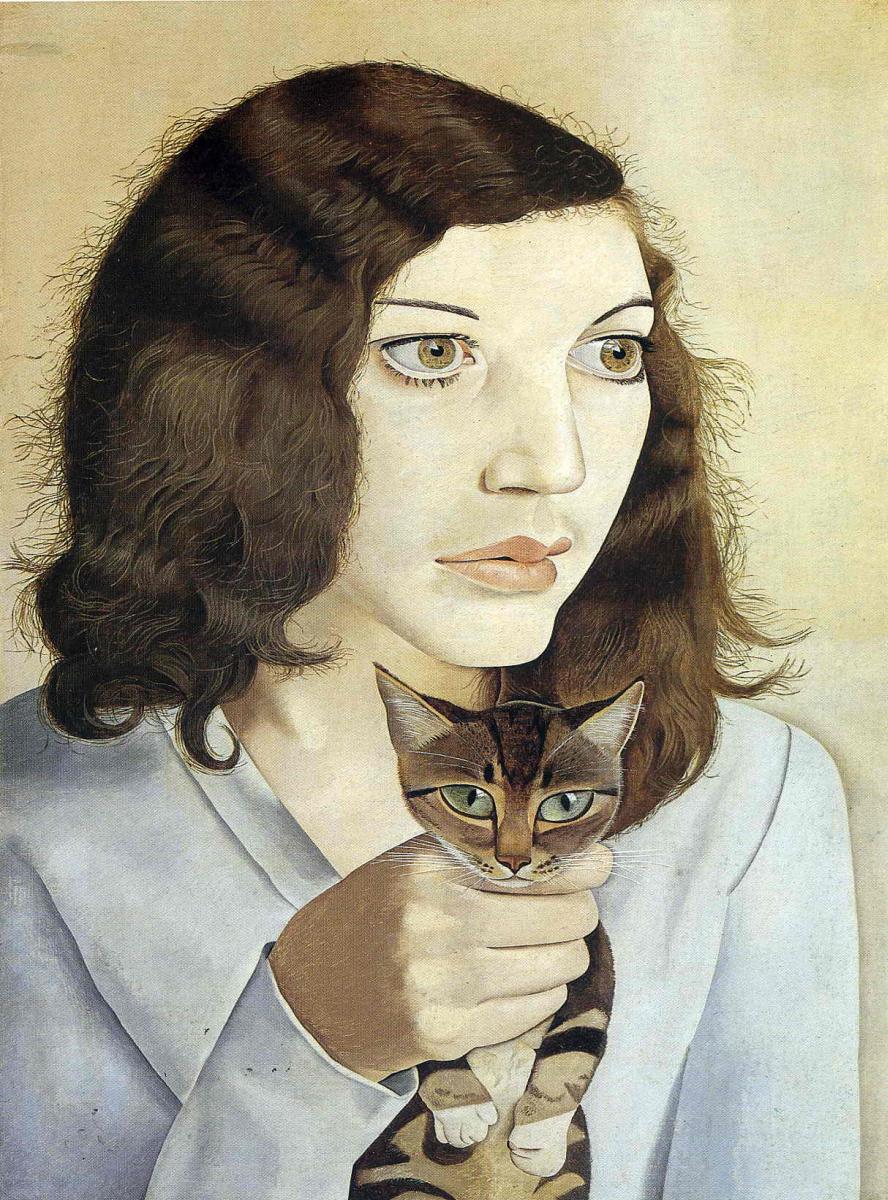Люсьен Фрейд. Девушка с котенком
