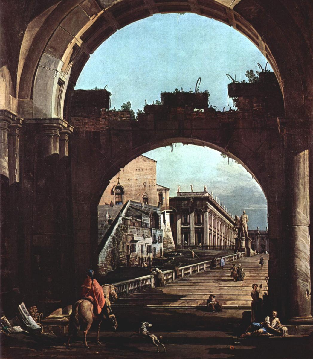 Giovanni Antonio Canal (Canaletto). Roman Capriccio, the Capitol