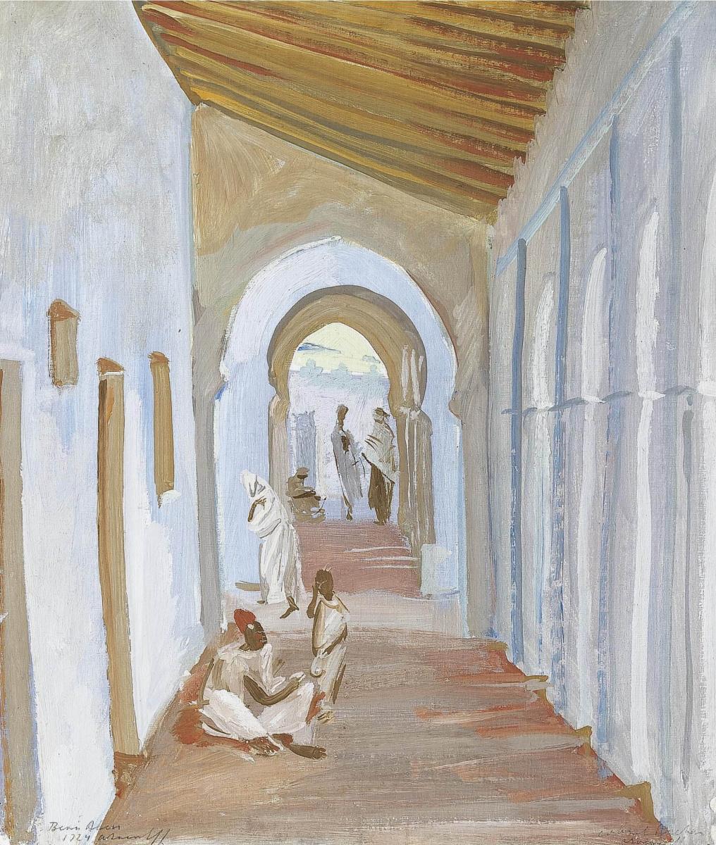 Александр Евгеньевич Яковлев. Рисунок портика, Алжир. 1924