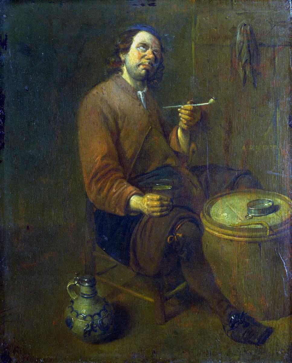 Дипрам Арент. Крестьянин сидит курит