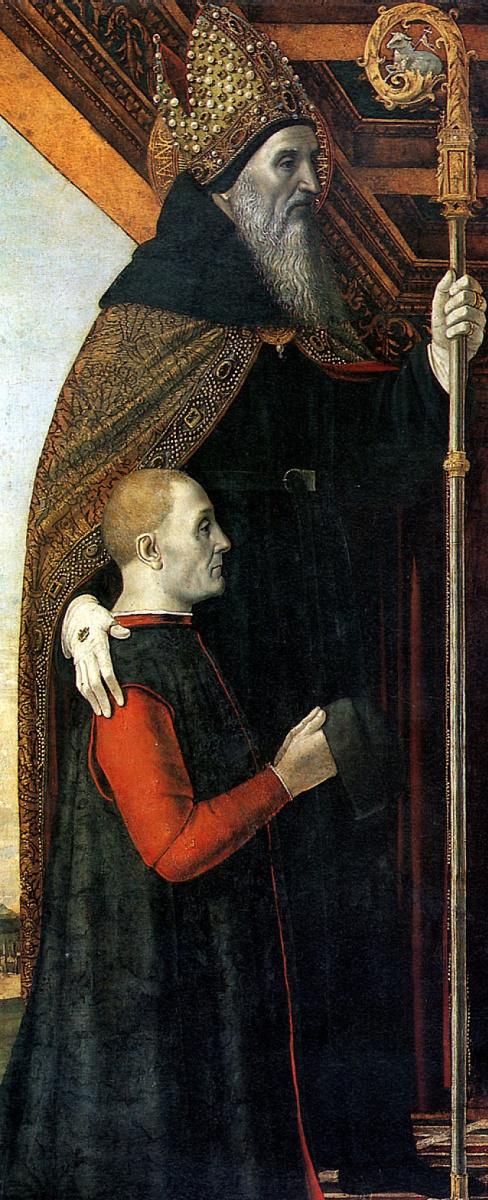 Амброджо Фоссано. Святой Августин с донатором