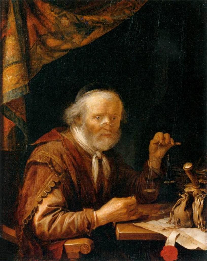 Gerrit (Gerard) Dow. Moneylender