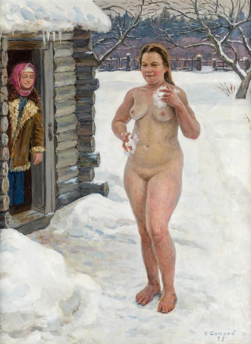 Вячеслав Вячеславович Сысоев. 1937-2006. Деревенская баня. 1978