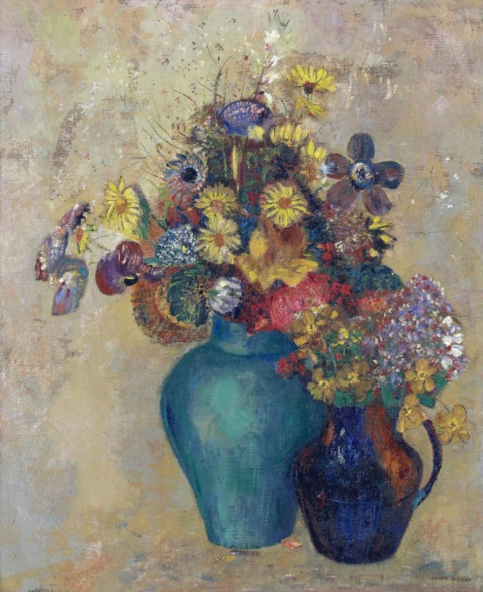 Одилон Редон. Две вазы с цветами