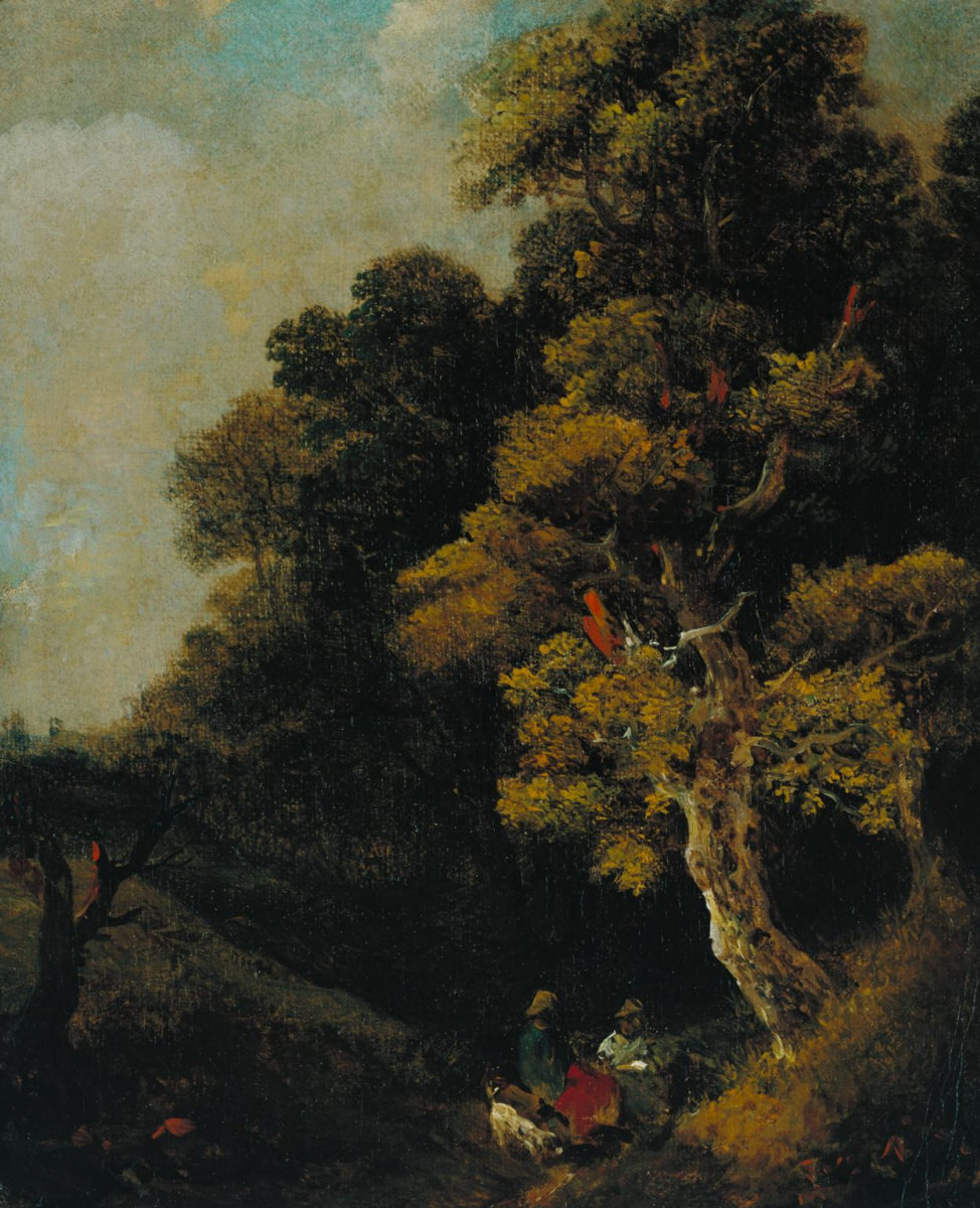 Томас Гейнсборо. Пейзаж с фигурами под деревом