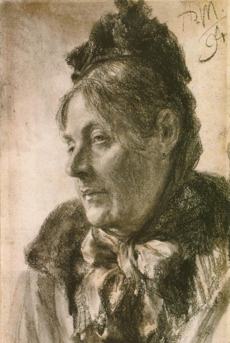 Адольф фон Менцель. Голова женщины