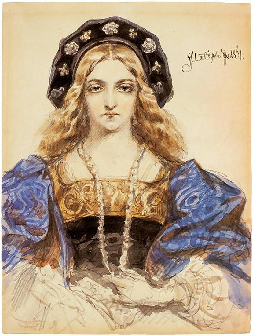 Ян Матейко. Портрет молодой женщины (Принцесса Бона Сфорца)
