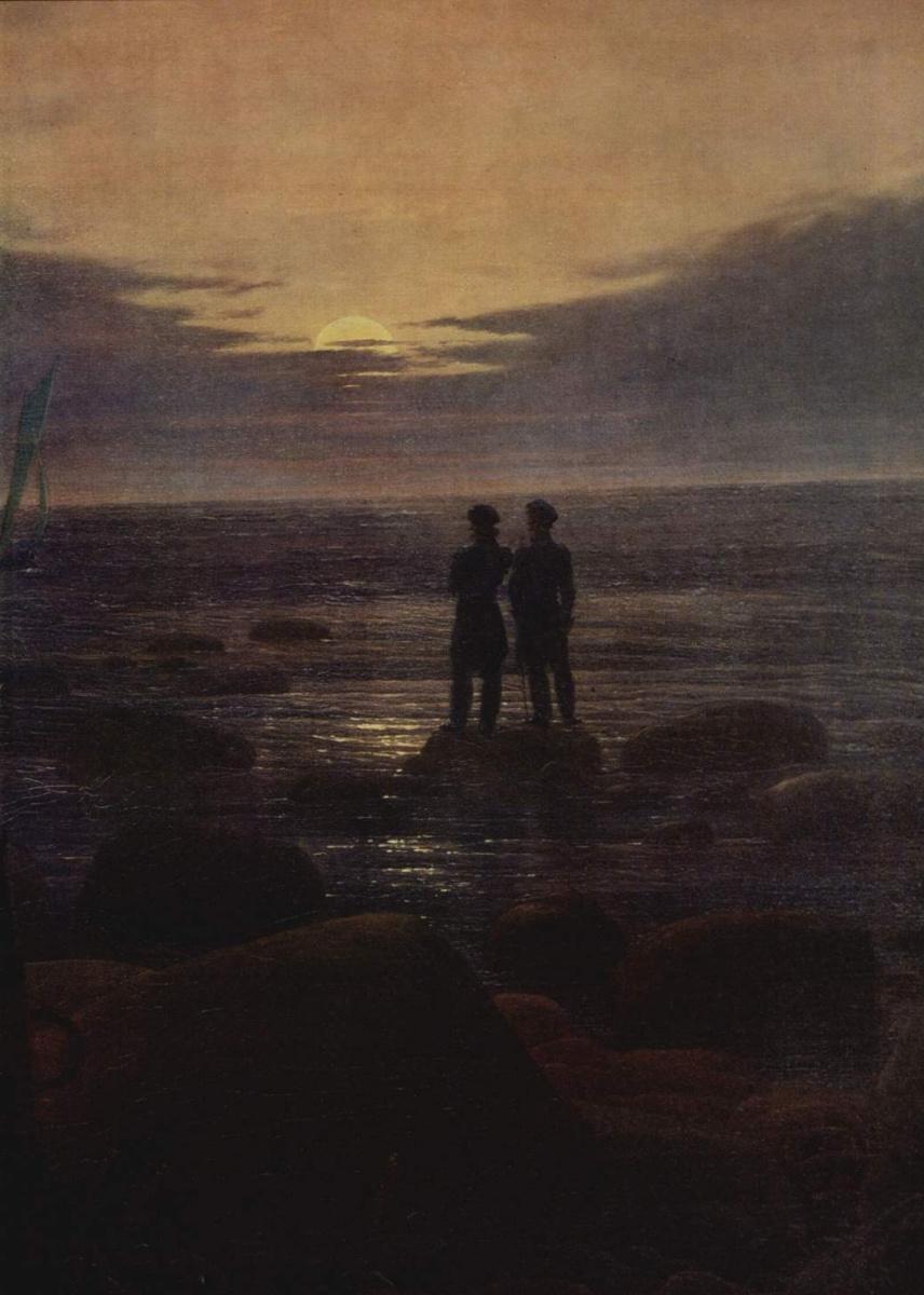 Каспар Давид Фридрих. Восход луны на море, деталь