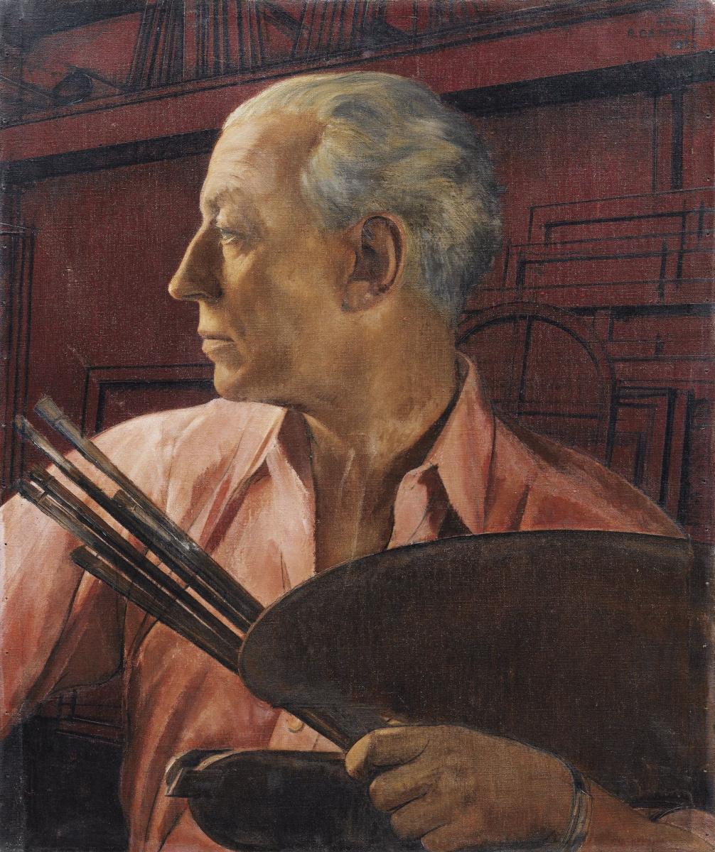 Bernard Boutet de Monvel. Self-portrait with palette