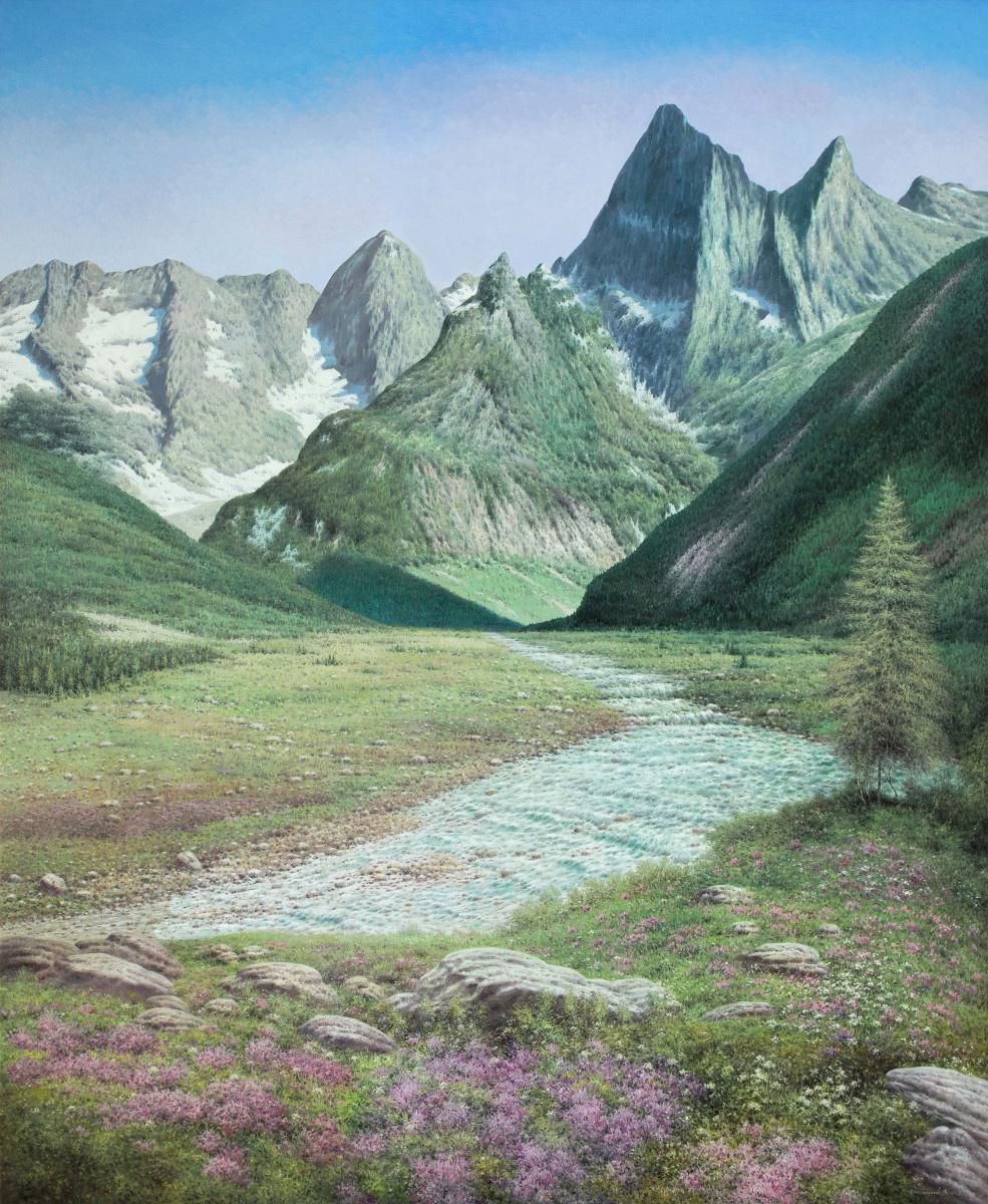 Vasily Ivanovich Gribennikov. Mountain gorge