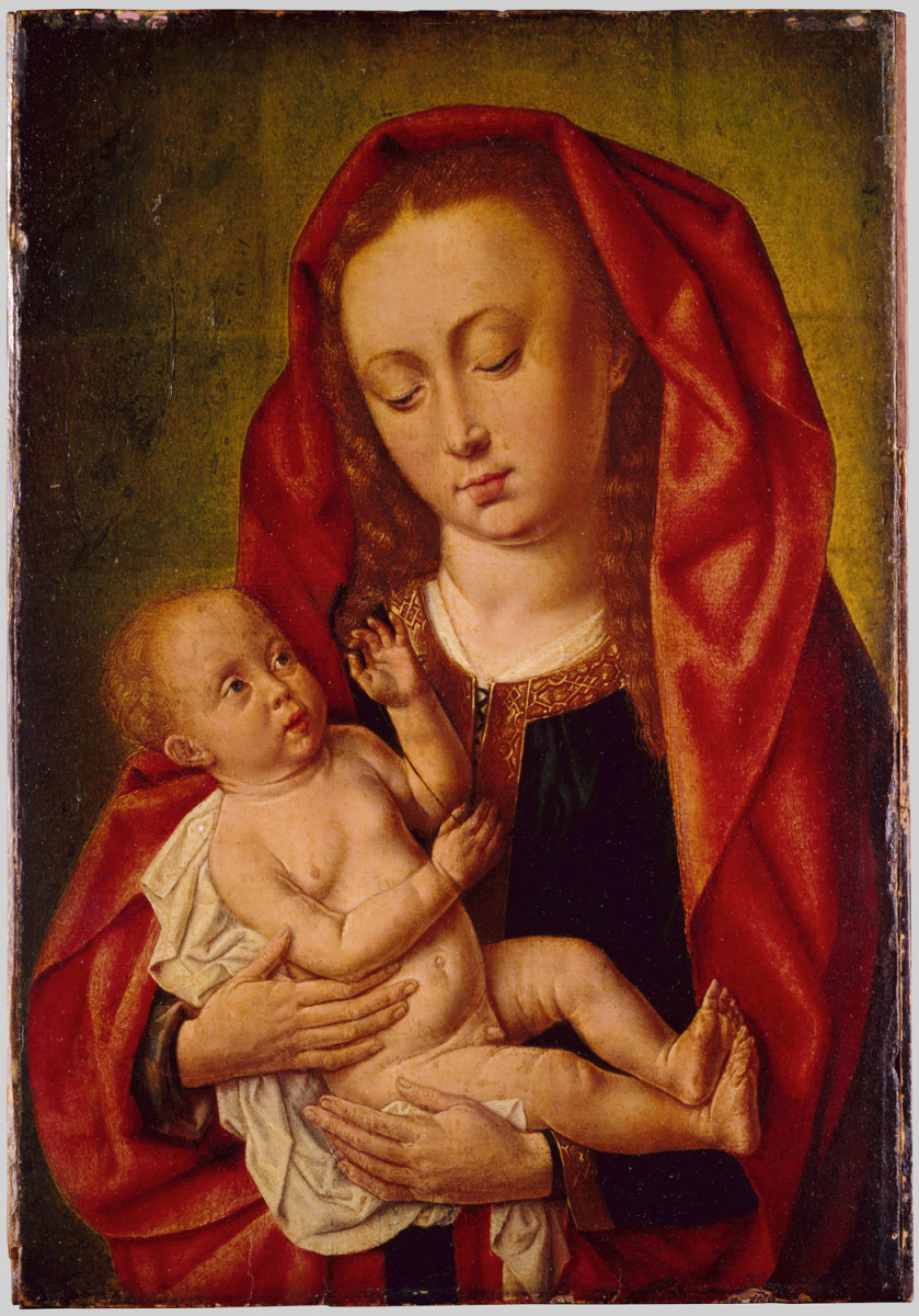 Master of Saint Egidio. The Madonna and child with a dragonfly