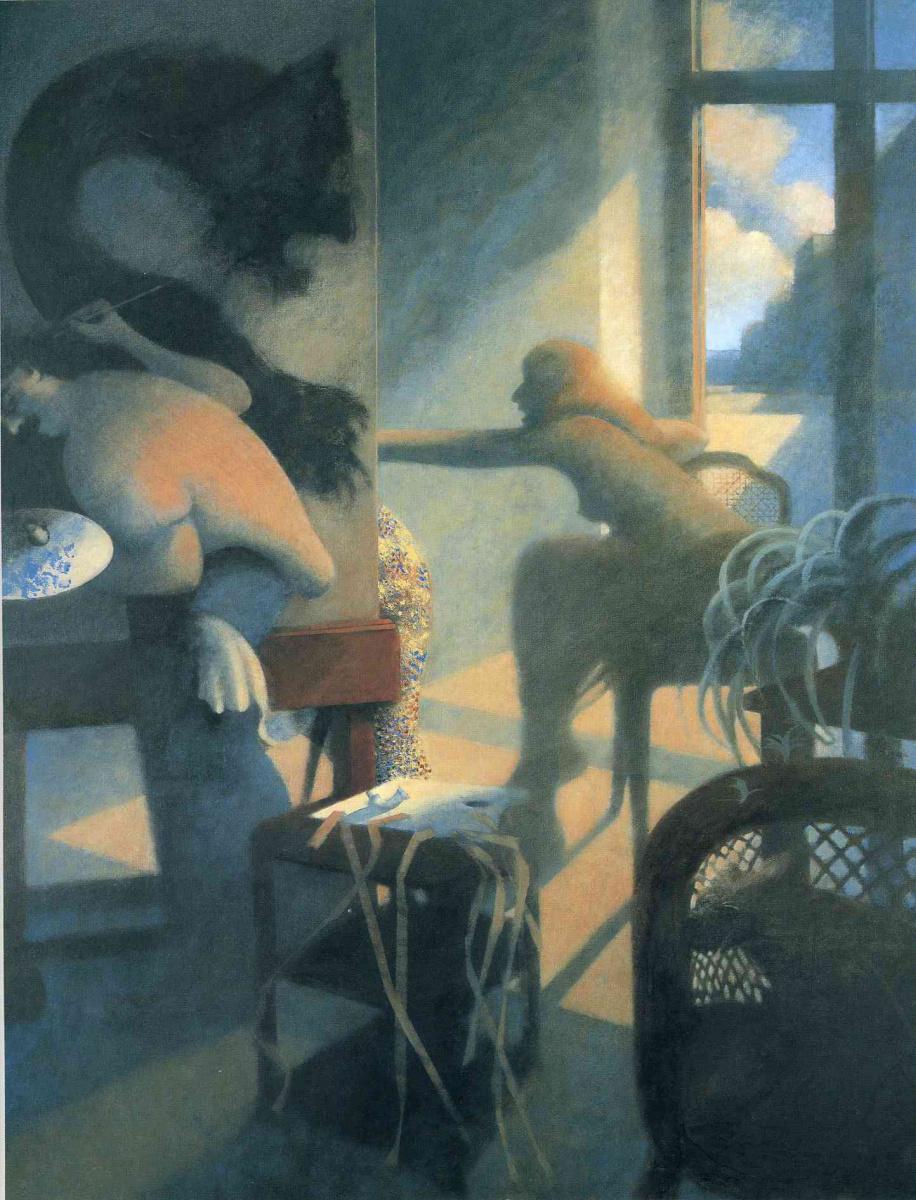 Билл Жаклин. Женщина у окна