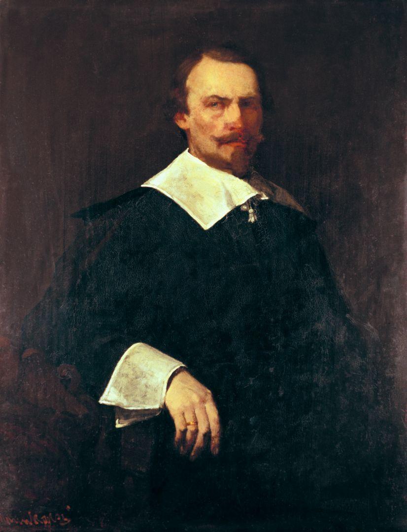 Михай Либ Мункачи. Портрет мужчины в костюме венгерского дворянина