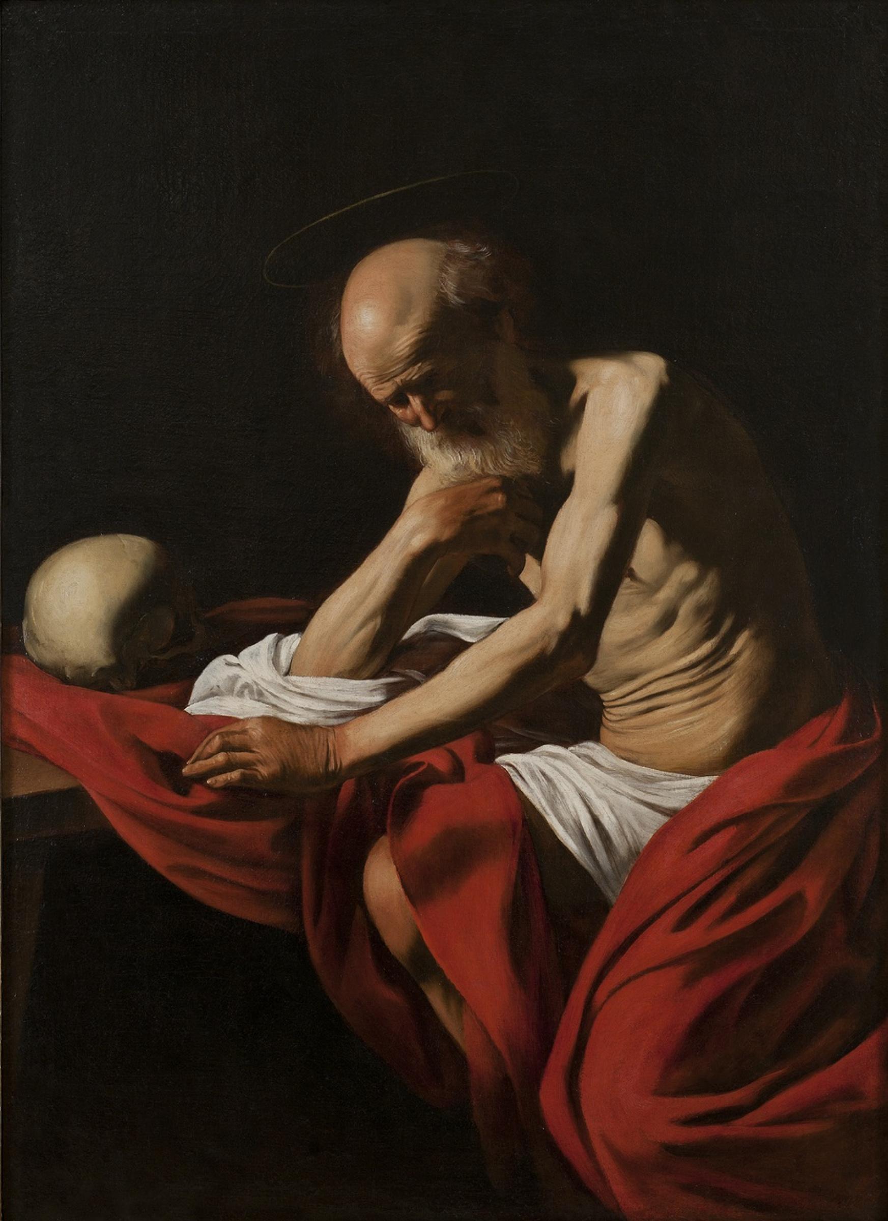 Микеланджело Меризи де Караваджо. Святой Иероним в раздумьях