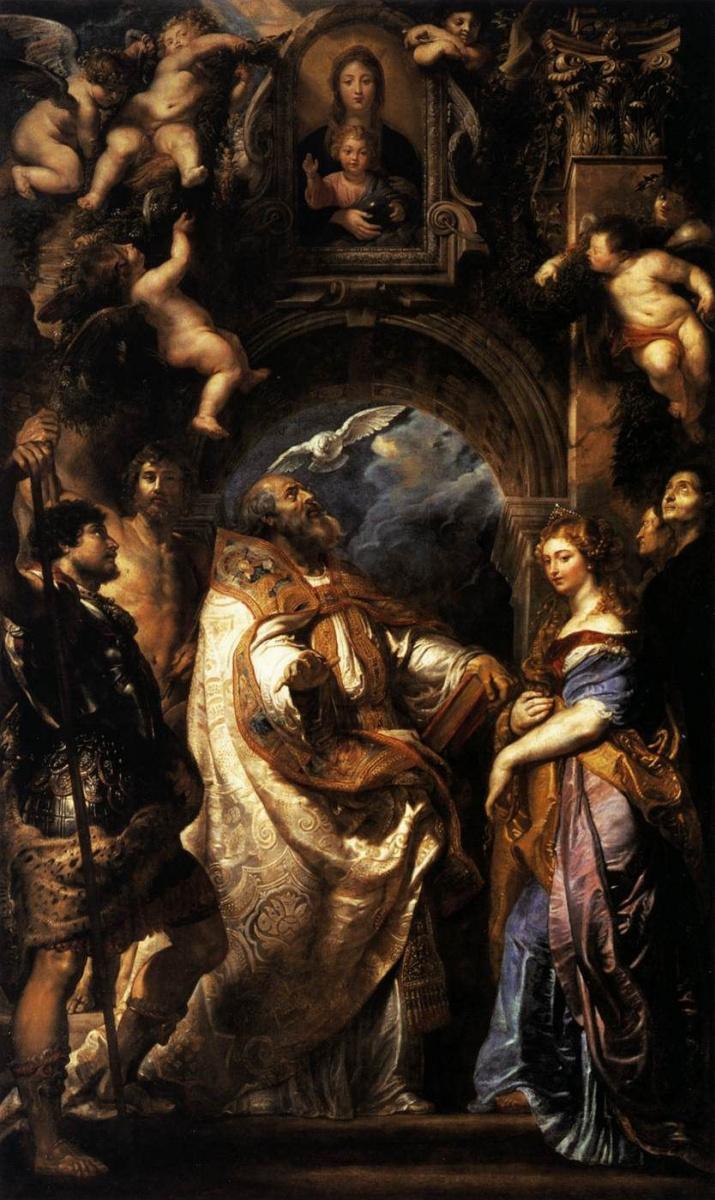 Питер Пауль Рубенс. Святой Григорий со св. Домициллой, Маврикием и Папианом