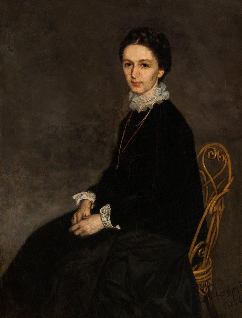 Pál Szinyei Merse. Portrait of Ninon Signyear Merche