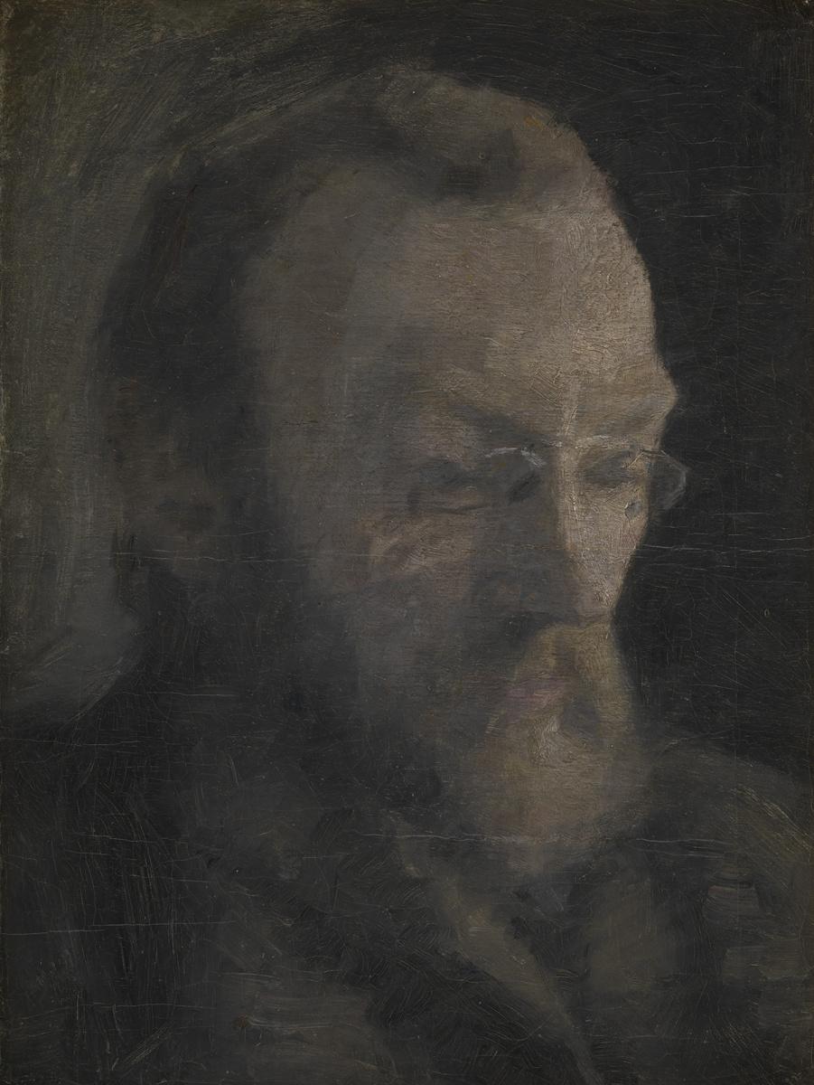 Вильгельм Хаммерсхёй. Карл Мадсен, позже директор Национального художественного музея Дании