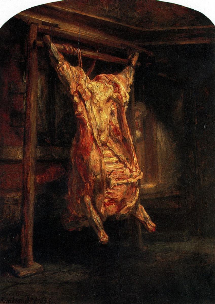 Рембрандт Харменс ван Рейн. Туша быка