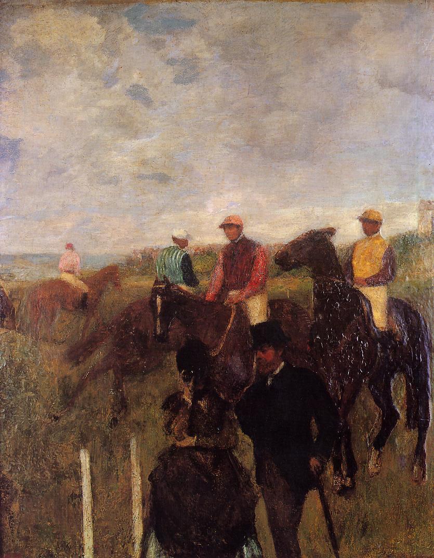 Edgar Degas. At the races