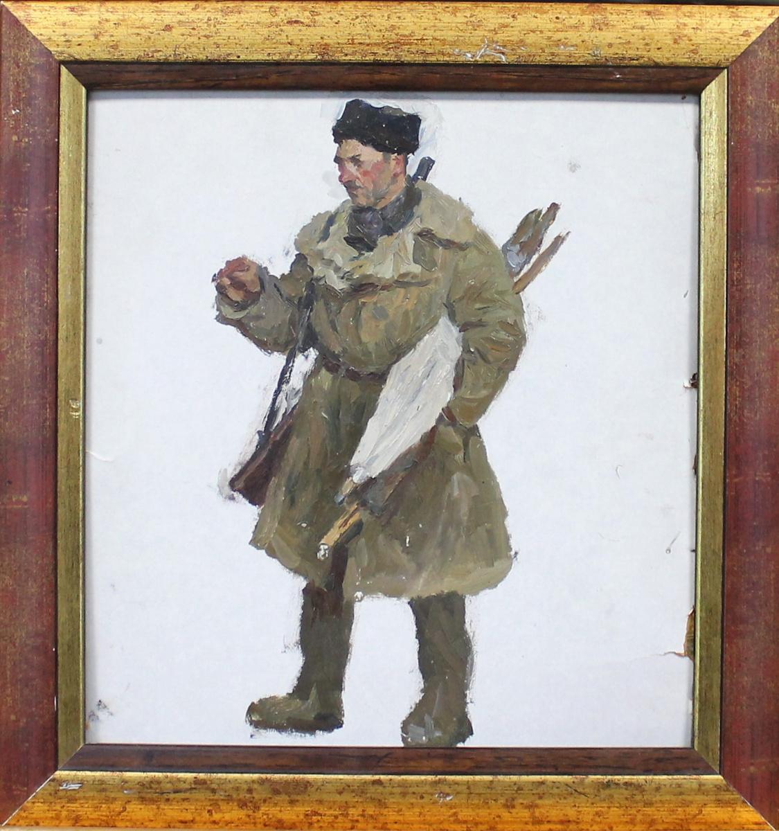 Orest Georgievich Betekhtin. Man with a gun