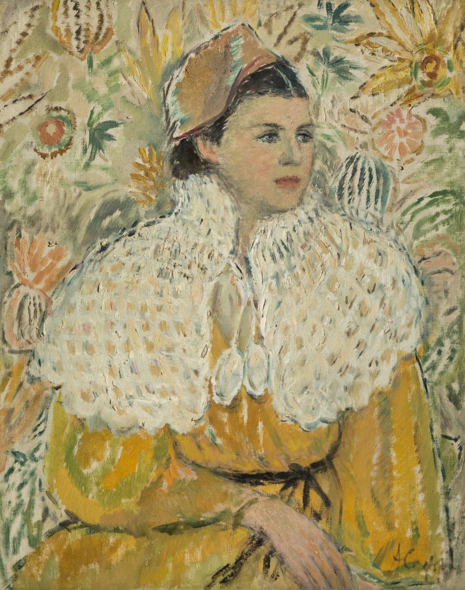 Антонина Федоровна Софронова. Портрет дочери в белой накидке