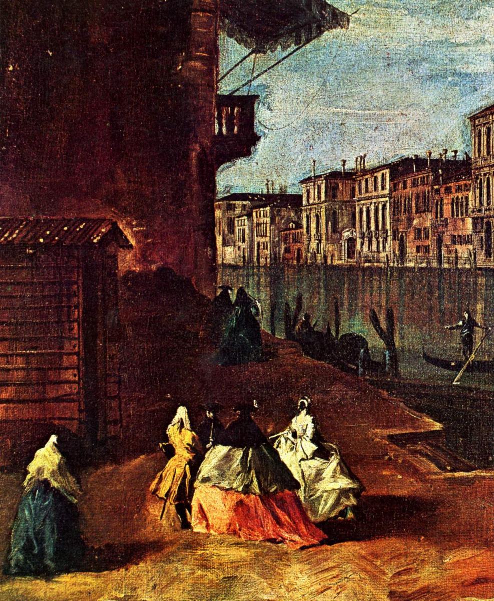 Франческо Гварди. Большой канал в Сан Джереми, фрагмент