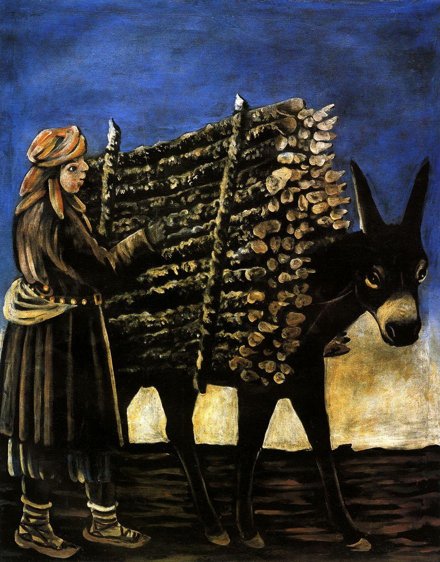 Нико Пиросмани (Пиросманашвили). Мальчик - продавец дров