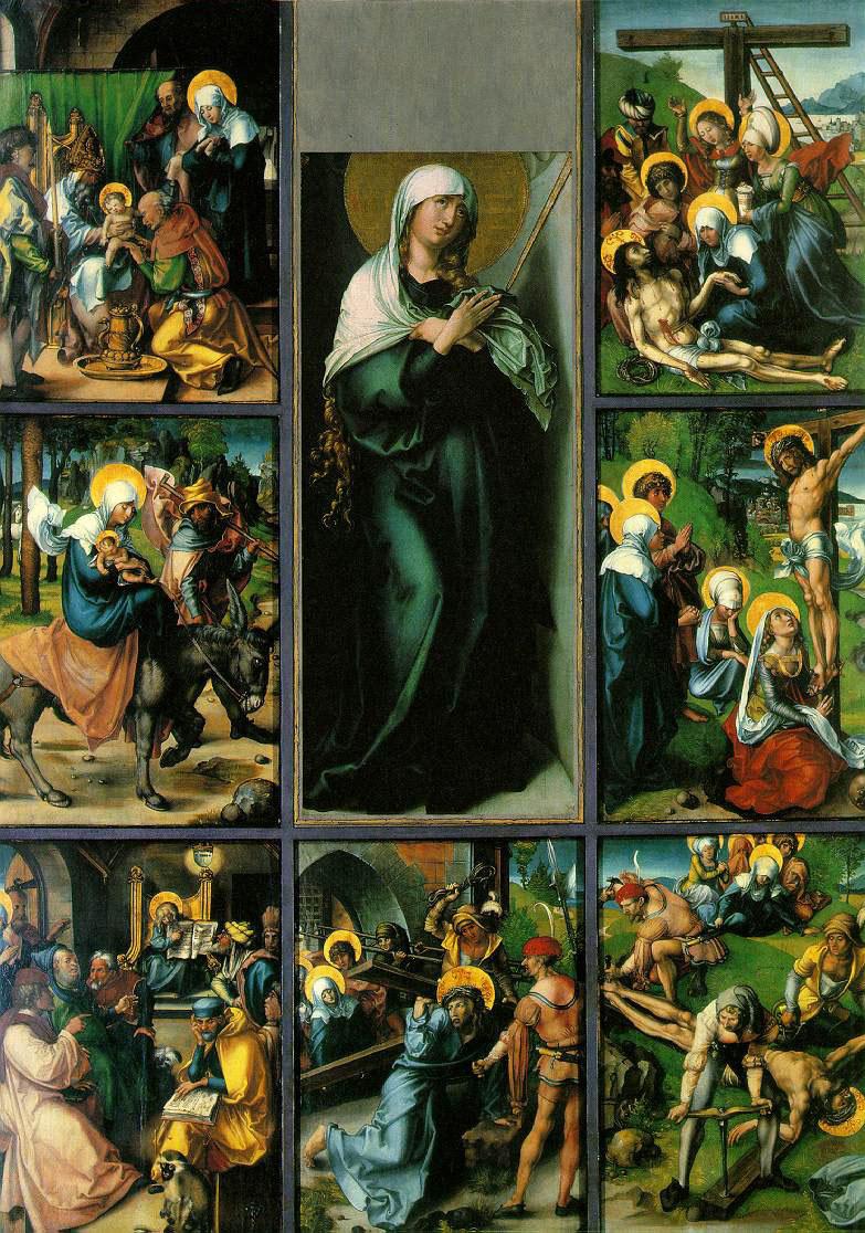Albrecht Dürer. Seven sorrows of the virgin Mary