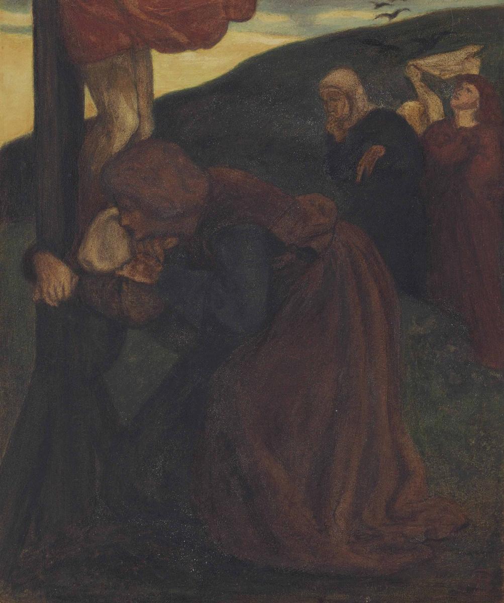 Dante Gabriel Rossetti. SV. John comforting the virgin at the foot of the cross