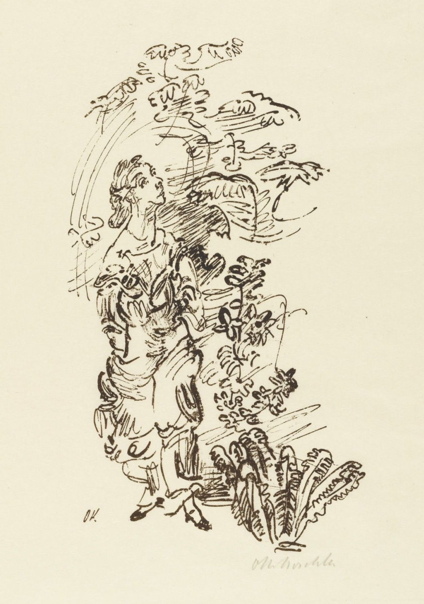 Oskar Kokoschka. The woman in the garden