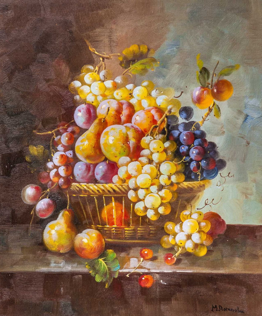 Maria Potapova. Still life with fruit in the Baroque style N3
