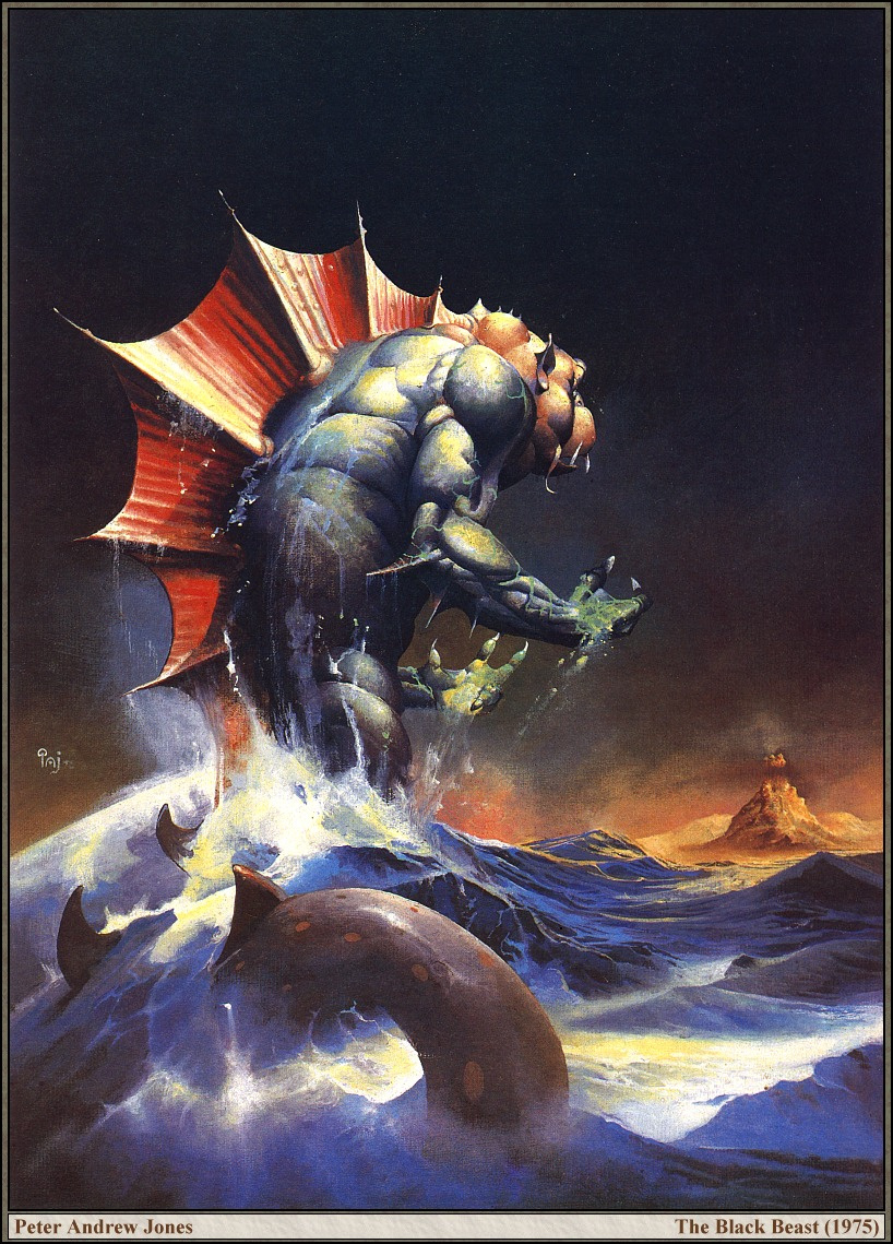 Peter Andrew Jones. Sea monster