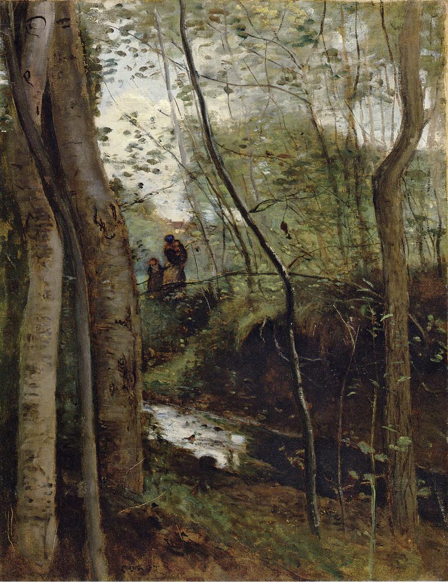 Камиль Коро. Ручей в лесу