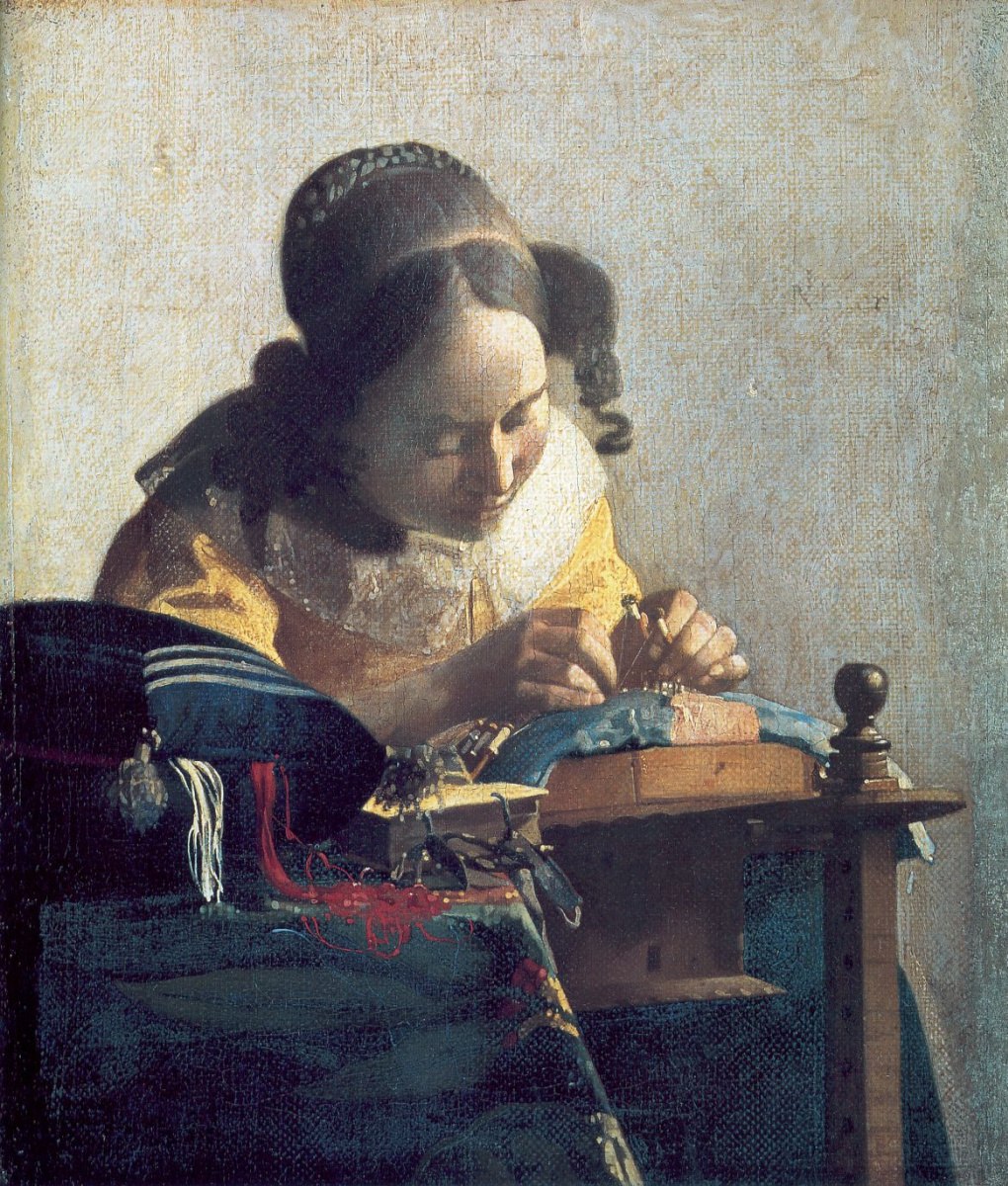 Jan Vermeer. The Lacemaker