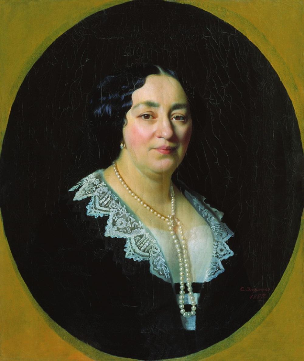 Sergey Konstantinovich Zaryanka. Portrait of Catherine Emmanuilovna Lazareva