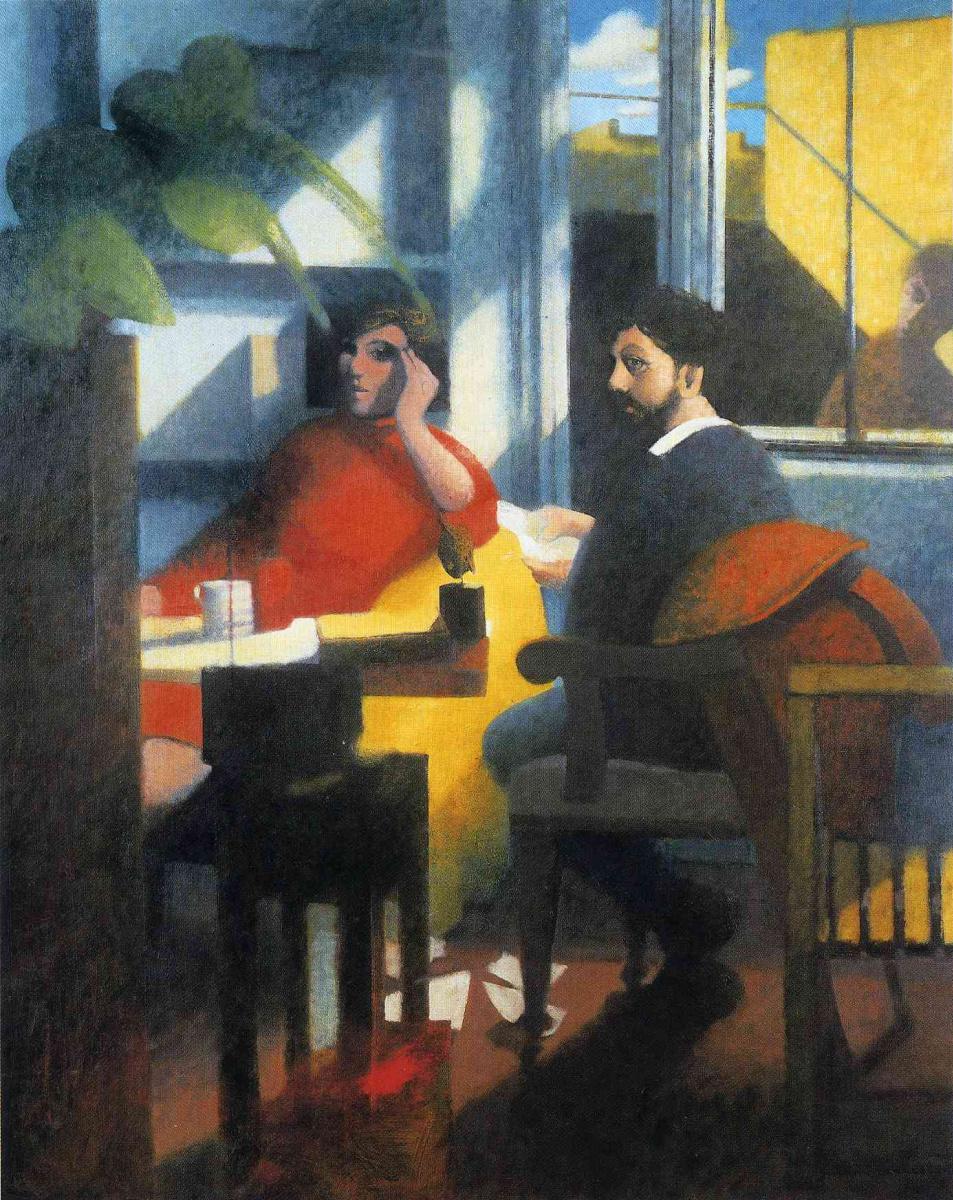 Билл Жаклин. Мужчина и женщина в красном