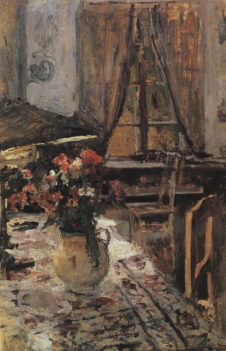 Константин Алексеевич Коровин. Сумерки в комнате