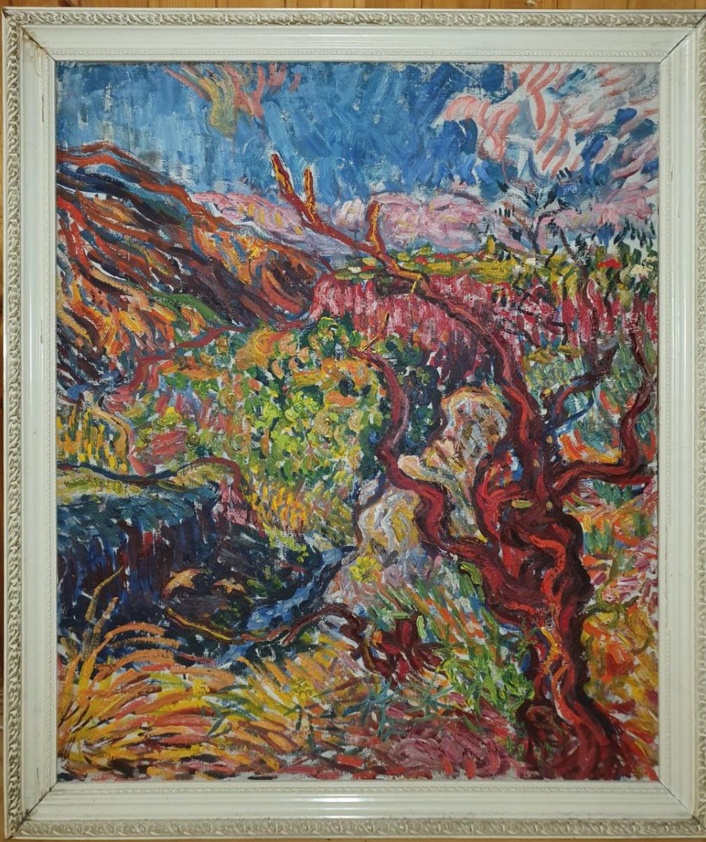 Dmitry Karabchievsky. Grape tree over the gorge