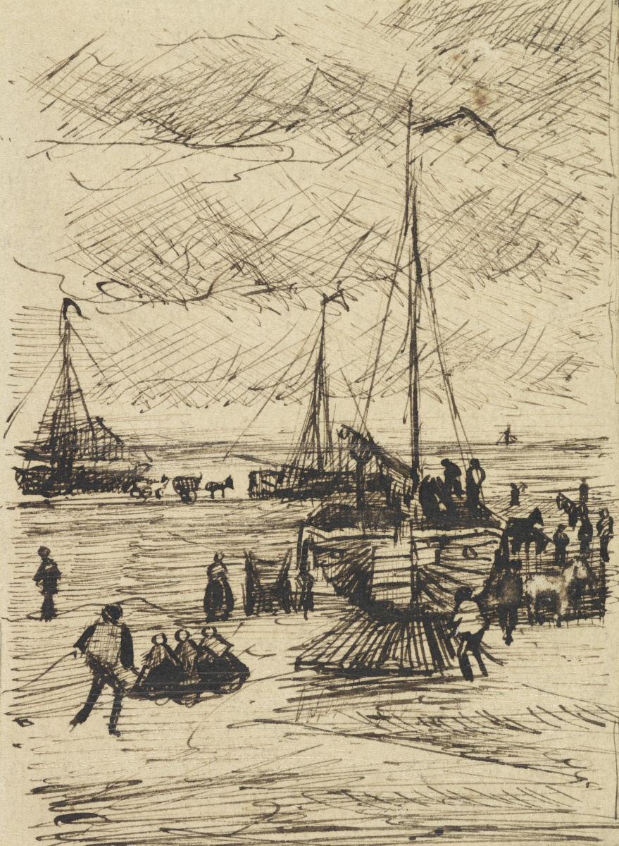Винсент Ван Гог. Вид набережной Схевингена