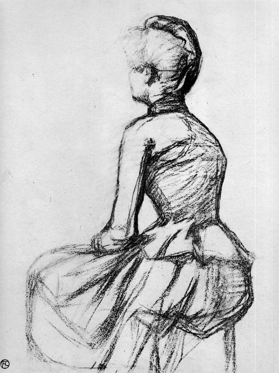 Анри де Тулуз-Лотрек. Сидящая женщина
