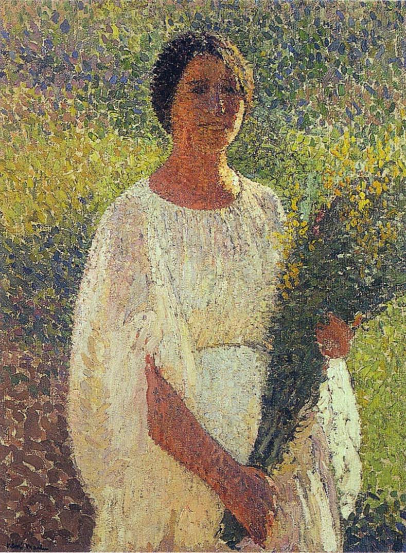 Анри Мартен. Девушка с цветами