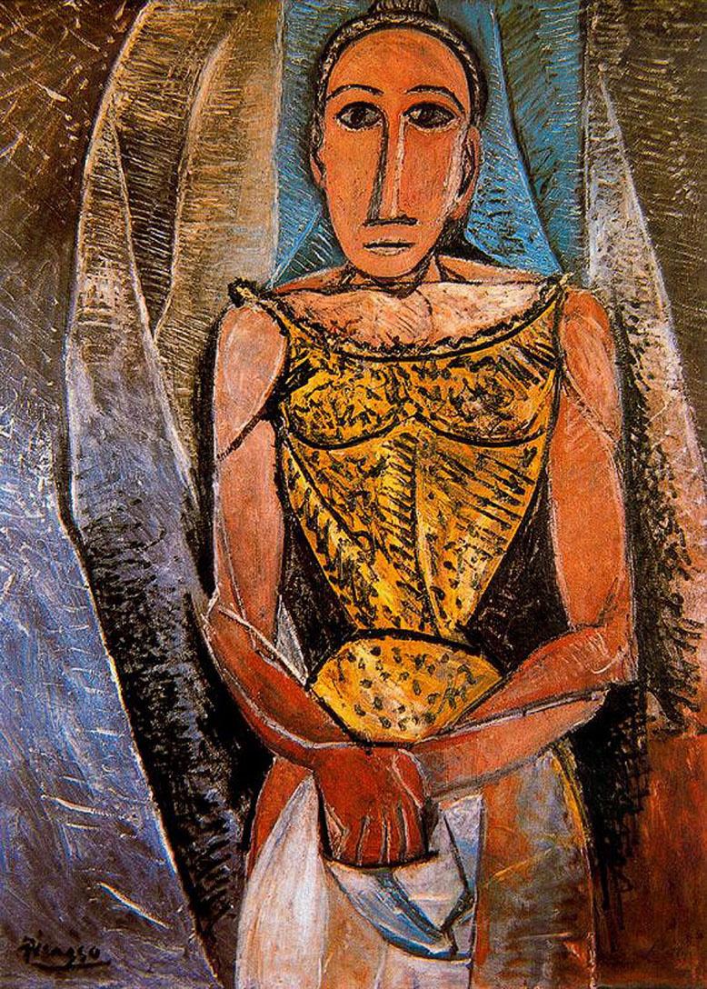Пабло Пикассо. Женщина в желтой рубашке