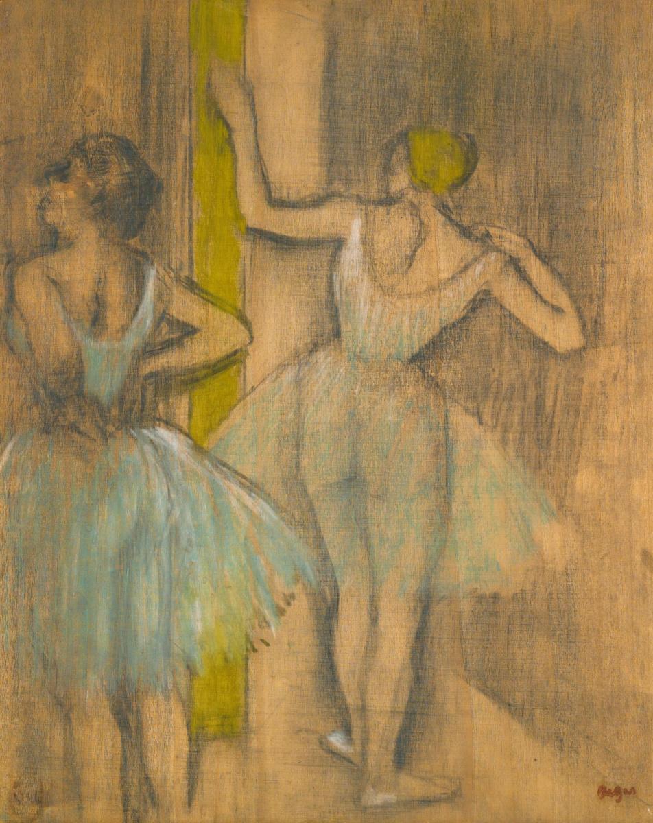 Edgar Degas. Two dancers