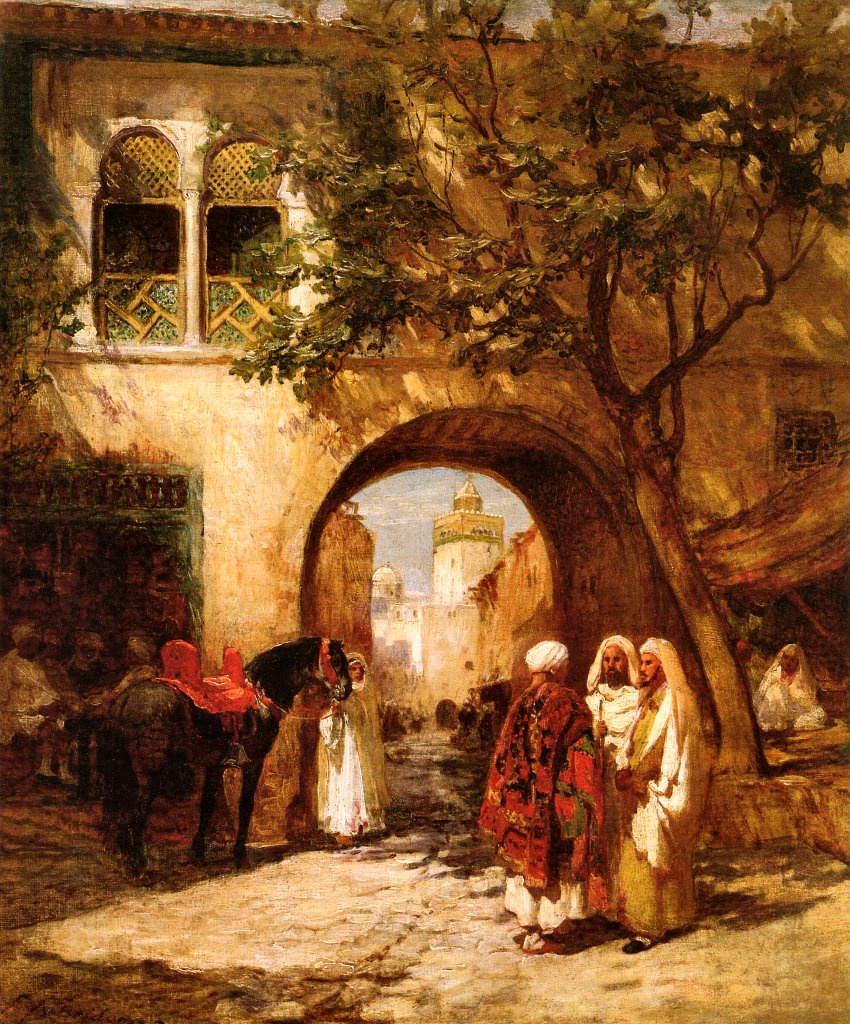 Frederick Arthur Bridgman. At the city gates