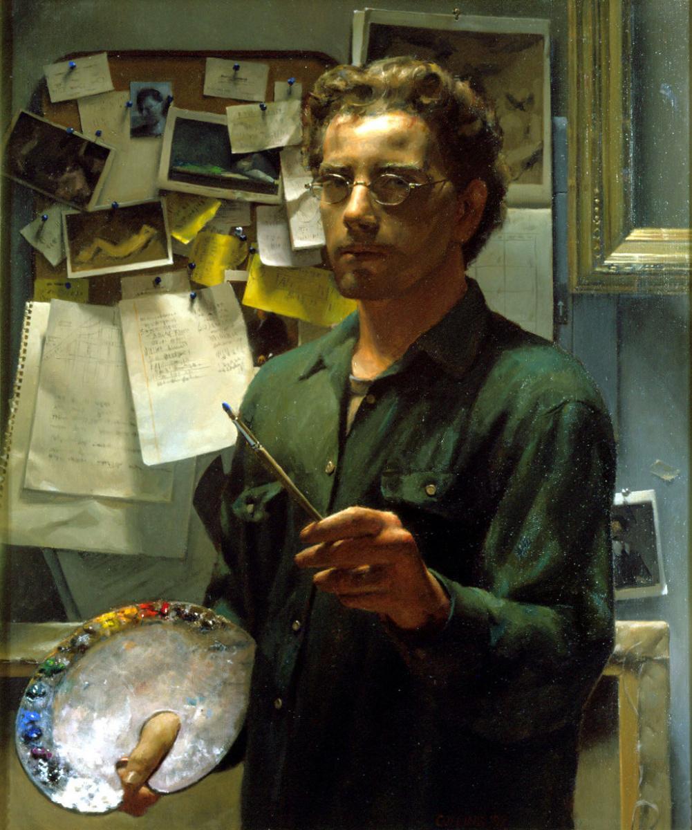 Иаков Коллинз. Автопортрет с палитрой