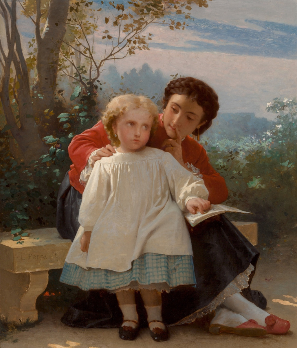 Leon Basile Perrot France 1832-1908. Reading lesson.