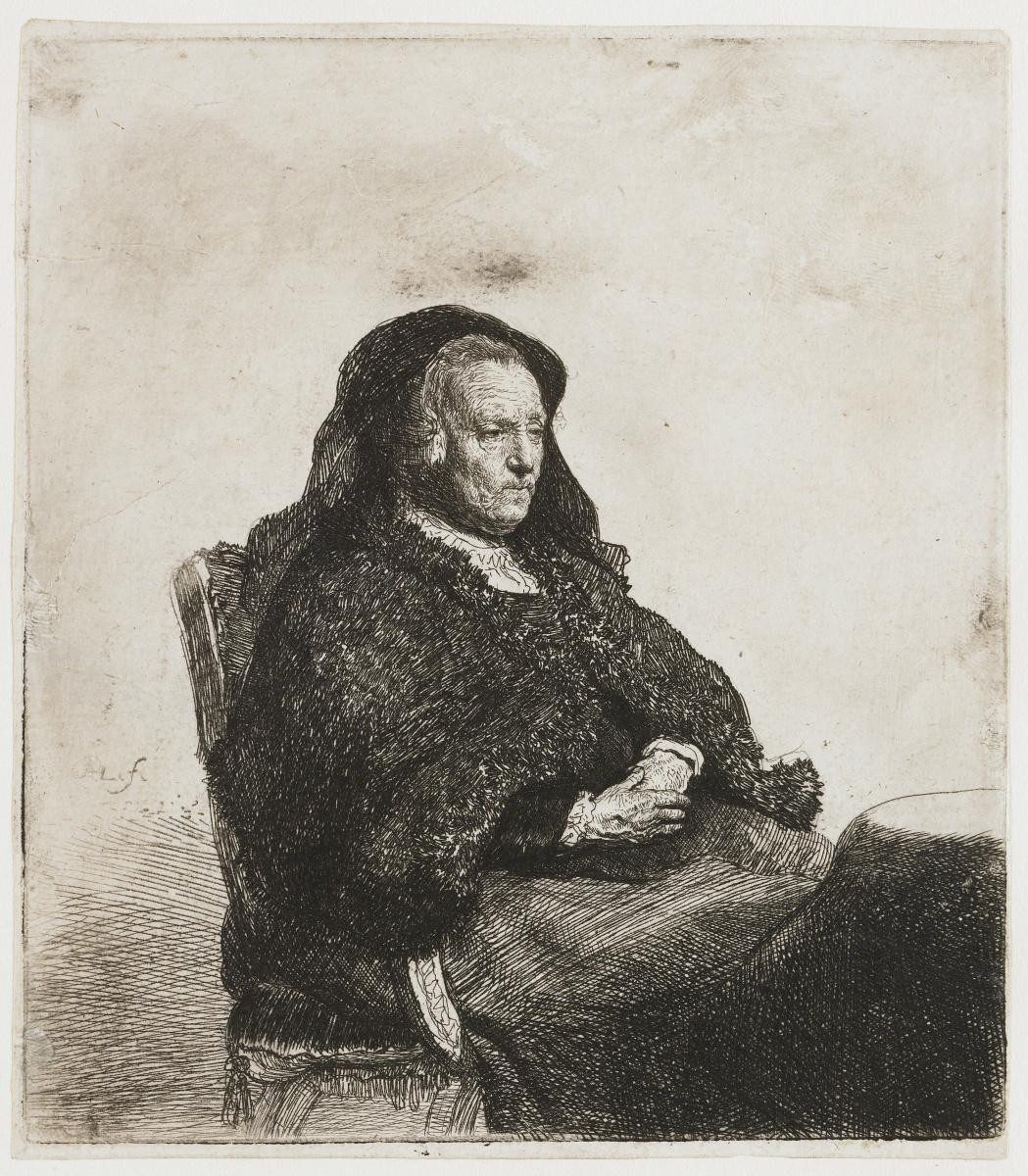Рембрандт Харменс ван Рейн. Портрет матери за столом