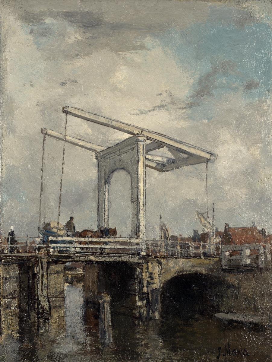 Иаков Марис. Подъемный мост в голландском городе